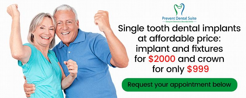 Prevent Dental Suite Dental Implants Specials
