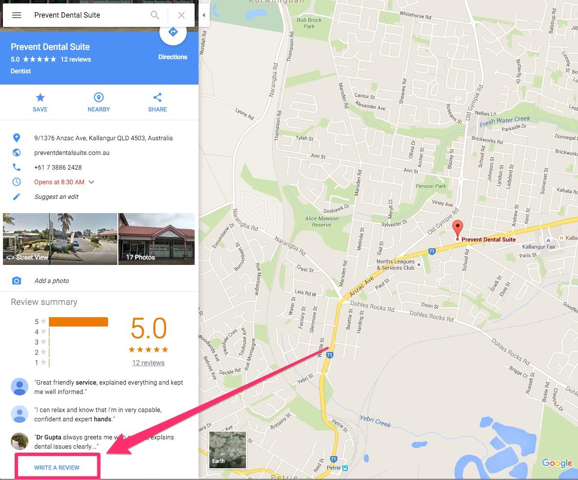 home prevent dental suite google maps