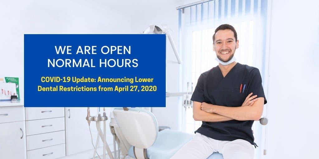 announcing eased dental restrictions from 27 april 2020 kallangur